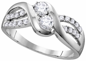 5/8 ctw Diamond Engagement Ring in 10 Karat White Gold.
