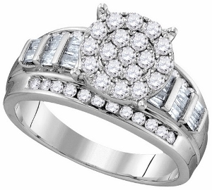 1 ctw Diamond Fashion Ring in 10 karat White Gold