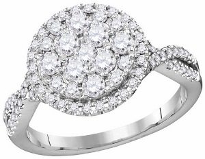 1 c.t.w Diamond Fashion Ring in 14 Karat White Gold