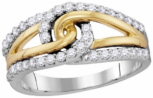 0.50 c.t.w Diamond Fashion Ring in Two Tone Gold.