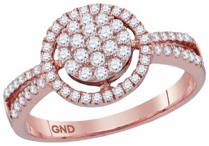 0.50 c.t.w Diamond Fashion Ring in 10 Karat Rose Gold