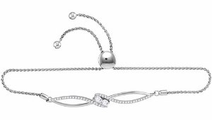 0.75 c.t.w Two Stone Diamond Bracelet  in 14 Karat White Gold