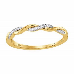 0.08 c.t.w Diamond Fashion Band in 10 Karat Yellow Gold. Create the perfect layered look with stacked rings in different variety.