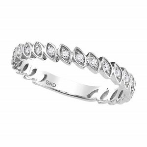 0.10 c.t.w Diamond Fashion Band in 10 Karat White Gold.reate the perfect layered look with stacked rings in different variety.