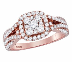 1.00 c.t.w Diamond Bridal Set in 14 Karat Rose Gold