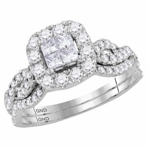 1.00 c.t.w Diamond Bridal Set in 10 Karat White Gold