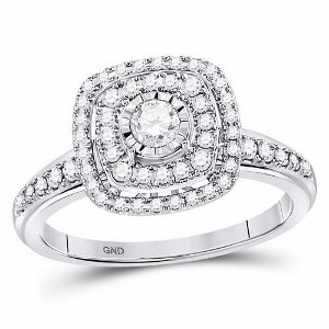 0.50 c.t.w Diamond Bridal Ring in 14 Karat White Gold