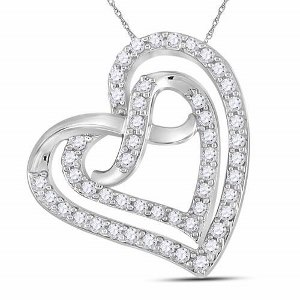 0.33 c.t.w Diamond Pendant in Sterling Silver