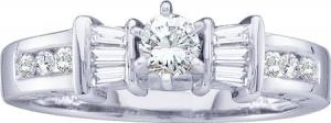 0.50CTW DIAMOND LADIES BRIDAL RING
