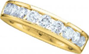 0.25CT Round Diamond Ladies Wedding Band - 14 karat yellow gold form a beautiful bond in this diamond anniversary band that  flaunts a  row of quality brilliant round  diamonds (1/4 carat (ctw).Also available in white gold