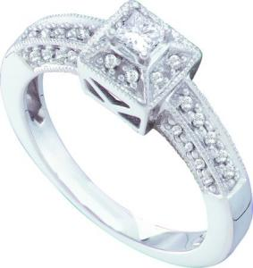 0.30CTW DIAMOND ROUND CENTER BRIDAL RING