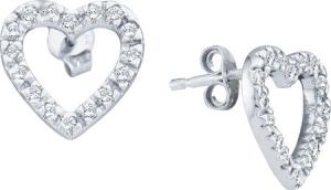 0.22CT DIAMOND HEART EARRINGS - Add some cute charm to your personal style with these lovely 10 karat white