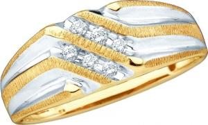 0.14 CTW ROUND DIAMOND MENS RING - Presenting a remarkable design and unsurpassed brilliance, this 10 kt yellow gold men's band is unparalleled with handsome elegance and sweet thoughts of love. Totaling a brilliant 0.14 ct., round diamonds diagonally line the band.