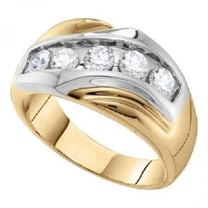 1.00CTW DIAMOND MENS RING