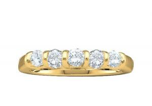 0.50CT ROUND DIAMOND LADIES CLUSTER FASHION BAND