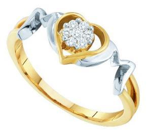 0.10CTW DIAMOND FASHION HEART RING