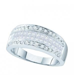 0.94CT PRINCESS ROUND DIAMOND FASHION RING
