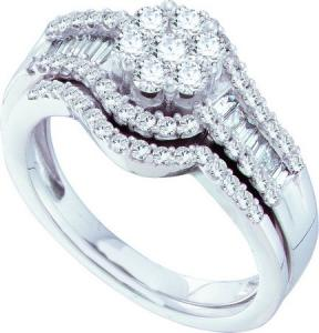 1.00CTW ROUND BAGGUETTE DIAMOND FASHION RING