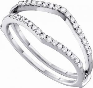 0.25CT Ring Wrap- A gorgeous ring guard enhancer or a wonderful addition to any jewelry wardrobe.