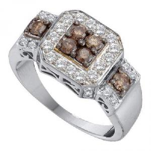 1.00CTW COGNAC DIAMOND LADIES FASHION RING