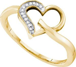 0.04CT DIAMOND HEART RING