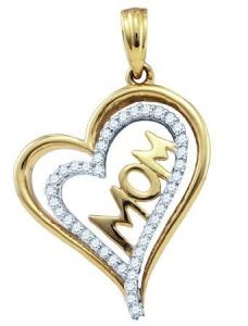 0.21CTW DIAMOND HEART PENDANT with 18