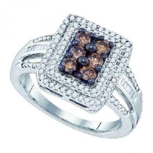 0.75CT COGNAC DIAMOND FASHION RING