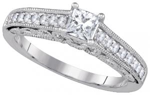 0.68CTW-DIA 0.40CT-CPR BRIDAL RING