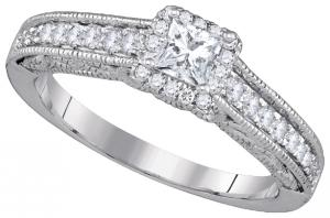 0.69CTW-DIA 0.33CT-CPR BRIDAL RING