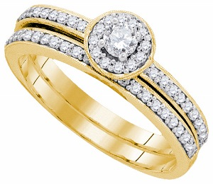 0.50 c.t.w Diamond Bridal Set in 10 Karat Yellow Gold