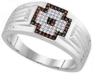 0.25CT DIAMOND MENS RING