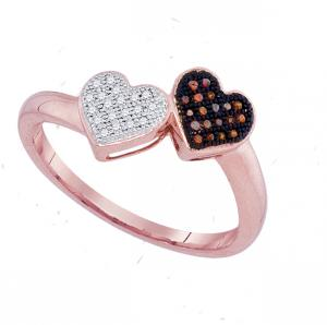 0.10 CTW-DIA MICRO-PAVE HEART RING