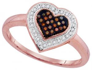 0.15 CTW-DIA MICRO-PAVE HEART RING
