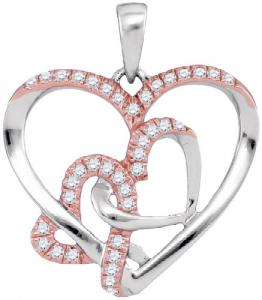 0.25CTW DIAMOND HEART PENDANT WITH 18