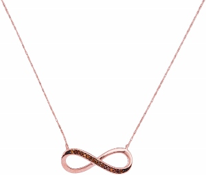 0.05 c.t.w Diamond Infinity Necklace in 10 Karat Rose Gold