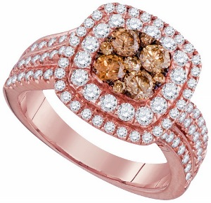 1.50 c.t.w Diamond Bridal Set in 14 Karat Rose Gold
