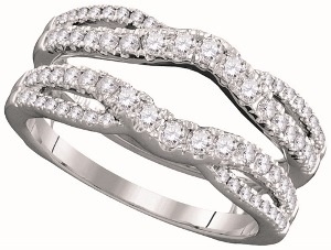 0.62 c.t.w Diamond Ring Wrap in 14 Karat White Gold