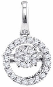 0.14CTW DIAMOND FASHION PENDANT WITH MATCHIN 18