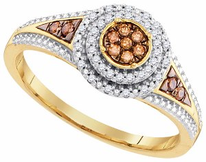 0.20 c.t.w Diamond Micro Pave Ring in 10 Karat Yellow Gold