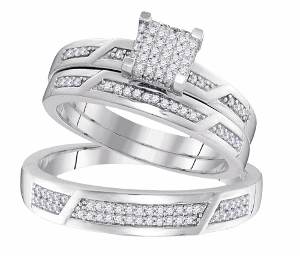 0.33CT DIAMOND FASHION TRIO SET