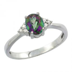 Green Mystic Topaz Engagement Ring
