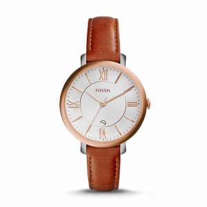 Cedar Leather Watch-A flawless essential, our refined Jacqueline puts a sophisticated spin on a ladylike classic. Its signature steel case couples with an easy-to-wear leather strap in this (elegantly) essential design.