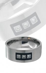 Stainless Steel Ring with Cubic Zirconia. Available only in Size 11
