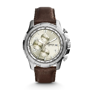 Dean Chronograph Dark Brown Leather Watch--Desk, dinner, daily commute—Dean is your best-dressed companion. Crafted with a classic chronograph movement, it's a sleek, pulled-together style that never takes itself too seriously.