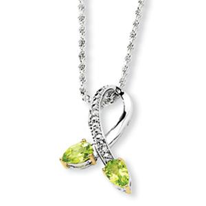 Beautiful knot peridot pendant is sure to impress her as a gift of love.