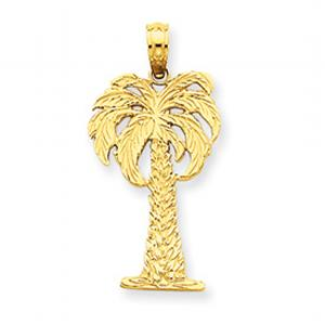 14kt Palm Tree Pendant