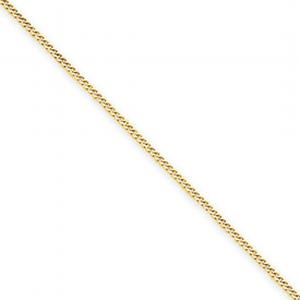14k 1.3mm Curb Pendant Chain -18 Inches