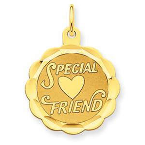 14kt SPECIAL FRIEND CHARM