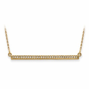 0.12c.t.w Diamond Bar Necklace in 14Kt Yellow Gold