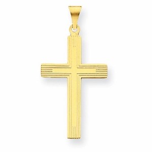 14 Karat Yellow Gold Cross Charm